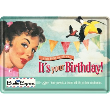 It's Your Birthday! - Metalna razglednica
