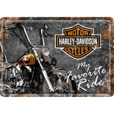Harley-Davidson Favourite Ride - Metalna razglednica