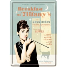 Breakfast at Tiffany's Blue - Metalna razglednica