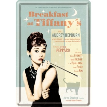 Breakfast at Tiffany's Blue - Metalna razglednica