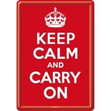 Keep Calm and Carry On - Metalna razglednica
