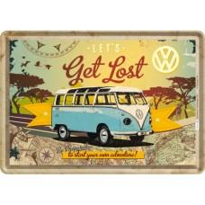 VW Bulli - Let's Get Lost - Metalna razglednica