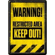 Restricted Area - Keep Out! - Metalna razglednica
