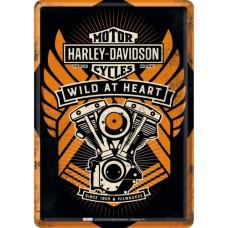 Harley Davidson Wild At Heart - Metalna razglednica