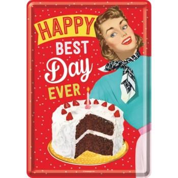 Happy Best Day - Metalna razglednica