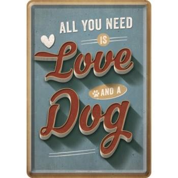 PfotenSchild - Love Dog - Metalna razglednica