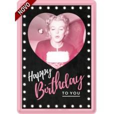 Marilyn - Happy Birthday - Metalna razglednica