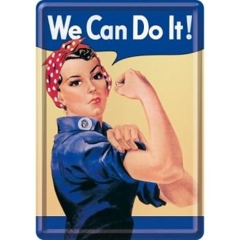 We can do it - Metalna razglednica