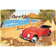 VW Beetle - Ready for the Beach - Znak 20x30cm