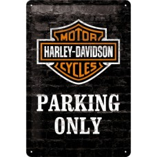 Harley-Davidson Parking Only - Znak 20x30cm