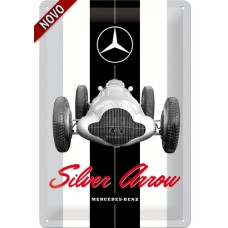 Mercedes - Silver Arrow - Znak 20x30cm