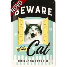 Beware of the Cat - Znak 20x30cm