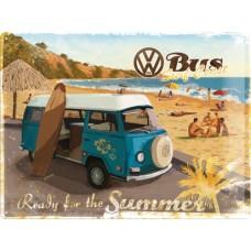 VW Bulli - Ready for the Summer - Znak 30x40cm