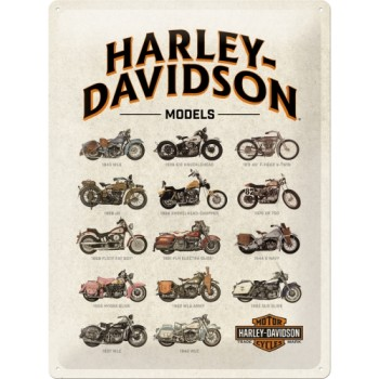 Harley-Davidson - Model Chart - Znak 30x40cm