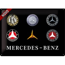 Mercedes - Logo Evolution - Znak 30x40