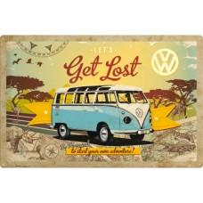 VW Bulli - Let's Get Lost - Znak 40x60cm