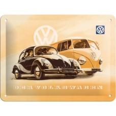 VW Beetle & Bulli - Znak 15x20cm