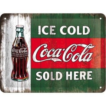Coca-Cola - Ice Cold Sold Here - Znak 15x20cm