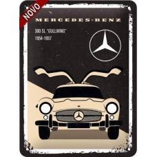 Mercedes - 300 SL Beige - Znak 15x20cm