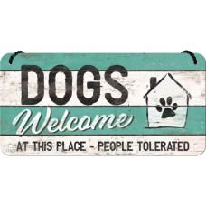 PfotenSchild - Dogs Welcome - Viseći znak