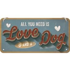 PfotenSchild - Love Dog - Viseći znak