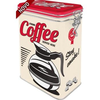 Strong Coffee Served Here - Kutija sa poklopcem