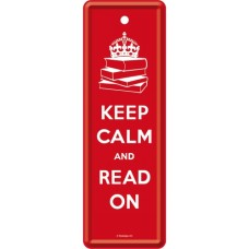Keep Calm and Read On - Metalni obeleživač