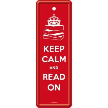 Keep Calm and Read On - Metalni obeleživač