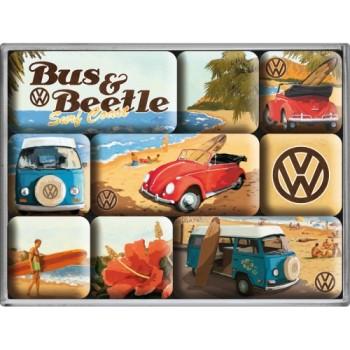 VW Beach - Set magneta (9kom)