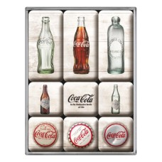 Coca-Cola - Bottle Timeline - Set magneta (9kom)