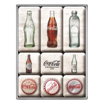 Coca-Cola - Bottle Timeline - Set magneta (9kom)