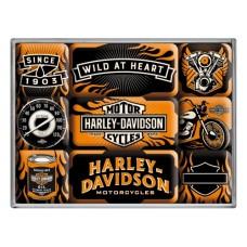Harley-Davidson Wild At Heart - Set magneta (9kom)