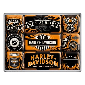 Harley-Davidson Wild At Heart - Set magneta (9kom)