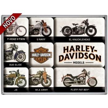 Harley-Davidson - Model Chart - Set magneta (9kom)