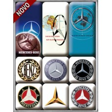 Mercedes - Logo Evolution - Set magneta (9kom)